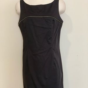 Black dress with silver decorative zipper size 10